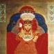 日本画作品「クマリ -The Living Goddess- 〔ネパール〕」 (F50号)