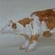 「牛」(テラコッタに油彩)1994年 10×20×13cm