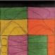 「月、渉る」W74×H159cm 素材:紬 技法:捺染 2004年