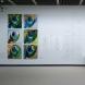 「Qf・SHOH《掌》90・Holz」シリーズ 90x90cm + ドローイング 2011