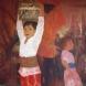 日本画作品「妙なる国の少女〔バリ島〕」 (F50号)