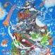 『河童と鯰図』 キャンバスにアクリル 192×130.3㎝