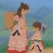 日本画作品「Beautiful village -美しき村-〔花モン族、ベトナム〕」 (F30号)