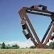 """""""Metamorphosis - door to the future"""" <M-25> /H.250x250x100cm/cor-ten steel/2008/Nihon-Kokkaen,Akita"""