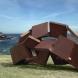 """Metamorphosis - inside out""<M-29>/H.170x400x170cm/cor-ten steel/2016/Bondi beach,Sydney"