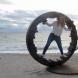 """Circle - yakibame (shrink fit)""  <C-11> /H.200x285x115 cm/cor-ten steel/2018/Cottesloe beach,Perth"