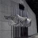 """""""間 - 連続と不連続"""" <K-41> /H.200x200x60cm/stainless steel/1989"""